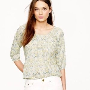 J. Crew Liberty of London Top XS Lodden Paisley